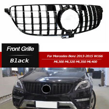 Black Front GTR Grille Grill For Mercedes Benz W166 ML300 ML350 ML400 13-15