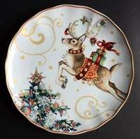 New Williams Sonoma TWAS THE NIGHT BEFORE CHRISTMAS Reindeer Dinner Plate ONE
