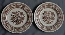 WOOD & SONS DORSET BRUIN 2x ontbijtbord 20cm bord BROWN plate Assiette Teller