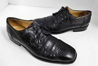 Florsheim Barletta Black Genuine Snakeskin and Leather Dress Oxfords 11 D