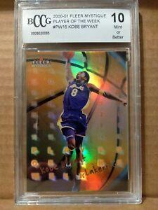 2000-01 Fleer Mystique Kobe Bryant Player Of The Week BCCG 10
