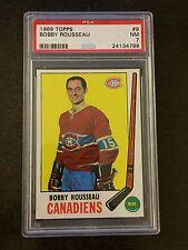 1969 #9 BOBBY ROUSSEAU *CANADIENS **PSA GRADED NM 7 **KGH-4788