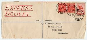 Australia NSW Jamberoo 1935 George V - Head Issue - Express Delivery Cover