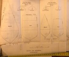 Circa 1850 Drawing Of Buoys And Sinkers Antique Meritime