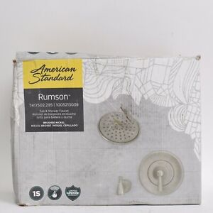 Rumson Single-Handle 1-Spray Tub Shower Faucet W/ 1.8 GPM Brushed Nickel