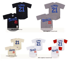 Roberto Clemente #21 Santurce Crabbers Puerto Rico Baseball Jerseys Top Sewn