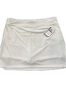 Callaway Women's skirt shorts Skort White knit size XXL 2X OPTi dri Golf tennis