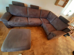 Couch Garnitur Eck Sofa modern braun-grau wie NEU, PLZ 32108