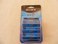 NEW Sony Mini DV Premium 60 Min DVC Cassette 3-Pack