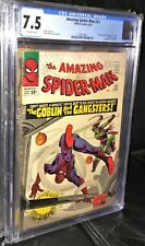 Amazing Spider-man #23 CGC Graded 7.5 Off-White Pages Early Green Goblin!