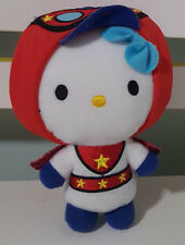 MCDONALDS HELLO KITTY PLUSH TOY! CAPE COSTUME EVIL KENEVIL 16CM TALL KIDS TOY!