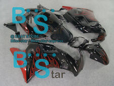 Flames Red ABS Fairing With Tank Cover Kit Fit HONDA CBR600F2 1991-1994 08 A2
