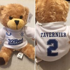 More details for 9'' inch cute brown teddy bear - glasgow rangers fc - away kit/top - brand new!!