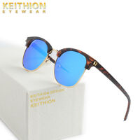KEITHION Polarized Vintage Retro Sunglasses Mens Womens Mirrored  Uv400 Eyewear