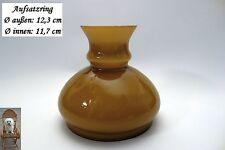 Lampenschirm Petroleumlampe Honigbraun Schirm Ø 12,3 cm / 11,7 cm Glasschirm