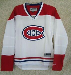 Montreal Canadiens White Women's NHL Reebok Premier Hockey Jersey - M, XL or XXL