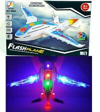 KIDS AEROPLANE AIRPLANE 3D LIGHT UP MUSIC TOY BUMP & GO ACTION
