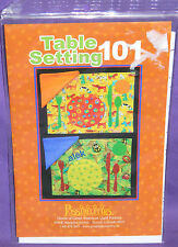 Possibilities Table Setting 101 Placemat & Napkin Quilt Pattern #205 Personalize