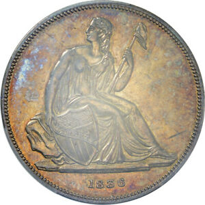1836 Gobrecht Silver Dollar Original | PCGS Proof-62 CAC (Toned)