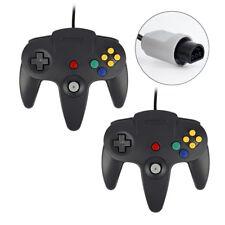 2x Game controller Joystick für Nintendo 64 N64 System GamePad Schwarz