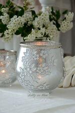 Windlicht Teelichtglas groß Kerzenhalter Vase Shabby Vintage Landhaus