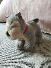 Vintage Steiff Schnauzer Harro stuffed animal