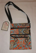 Orange Paisley Tablet Bag Quilted NEW Pockets for Cables Accessories