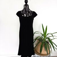 RSVP Perri Cutten Women's Size 10 Black Short Sleeve A-Line Work Corporate Dress