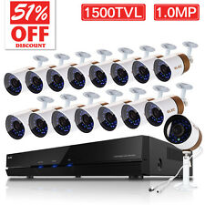 ELEC 16CH 960H HDMI DVR 1500TVL Home Surveillance CCTV Security Camera Systems