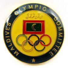 MALDIVES OLYMPIC COMMITTEE PIN BADGE 1990s GENERIC RARE