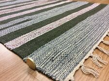 Striped Multi Colour Reversible Dhurrie 100% Cotton RUG 60x90cm 2'x3' 50%OFF
