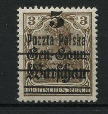 Polen 1919 Michel Nr 15 II * Form II(Fischer Nr 9 II) Attest Jendroszek