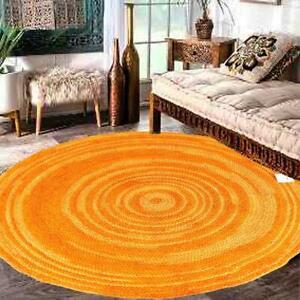 Nomad Tribal Area Oriental Geometric Handmade Carpet Vintage ORG Tie-Die Jute RU