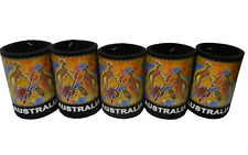 5 Australian Souvenir Aboriginal Indigenous Art Stubby Holder Coolers #4