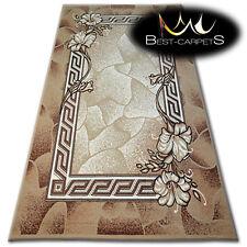 "MODERN DESIGNS & CHEAP BCF RUGS beige FLOWERS ""BASE"" LARGE SIZE Best-Carpets"