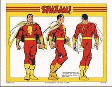 DC PRINT - CAPTAIN MARVEL / SHAZAM MODEL SHEET