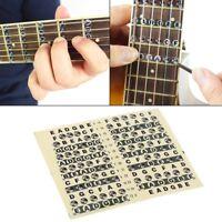 Nuevo Guitarra Diapasón Nota Calcomanía Dedo Tabla Escala Mapa Pegatina Para