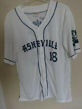 2018 MiLB Asheville Tourists SGA Button Front Baseball Jersey Men XL White