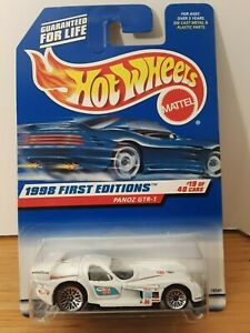 Hot Wheels 1998 First Editions Panoz GTR-1 #19 White w/Decals