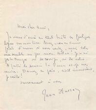 Littérature Jean Davray mobilisation guerre lettre autographe signée