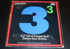 "DENON JAZZ ARTISTS - ELIAS/BERG/ERSKINE (3"" Promo Sampler CD 1988) Japanese demo"