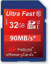 32GB Memory Card For Canon EOS 500D 70D DSLR Camera 32GIG SD SDHC Class 10