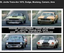 St. Jovite. Trans-Am 1970 Dodge, Mustang, Camarillo,AMX Car Poster! Stunning!