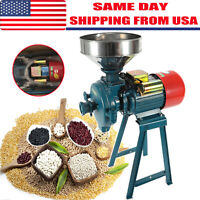 110V Electric Mill Dry Grinder Machine + funnel for Corn Grain Rice Wheat Cereal
