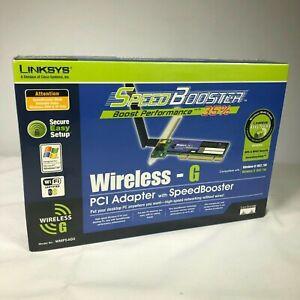 NIB - Linksys Wirelss-G PCI Adapter Speed Booster High Speed Networking #WMP54GS