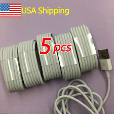 5pcs USB iphone Cable Charger Cord Cable for iPhone 7 iPhone 8 6S 6 Plus 5 3FT