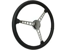 "1908 - 1932 Model A , B , T Steering Wheel Chrome Kit - 15"" Leather Grip"