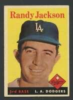 1958 Topps #301 Randy Jackson EXMT/EXMT+ Dodgers 29142