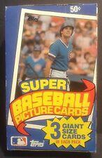1985 Topps Super Baseball Empty Display Box