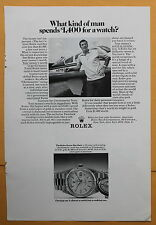 Magazine Print Ad 1972 Rolex Oyster Day-Date Watch What Kind of Man?